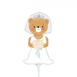 """BRIDE BEAR 14"""" MINI SHAPE FLAT"""