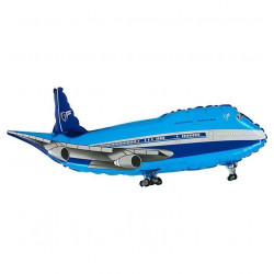"AIRPLANE BLUE 14"" MINI SHAPE FLAT"