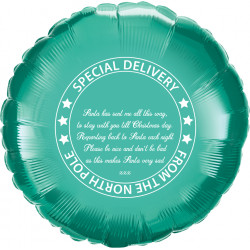 "* PERSONALISED CHRISTMAS ELF GREEN ROUND 18"" FLAT"