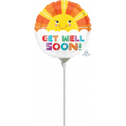 """SMILEY SUNSHINE GET WELL SOON 9"""" A15 FLAT"""