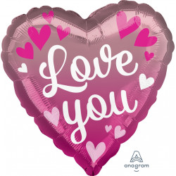 PINK OMBRE LOVE YOU STANDARD S40 PKT