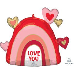 "RAINBOW LOVE SHAPE P30 PKT (26"" x 23"")"