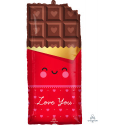 "CHOCOLATE LOVE SHAPE P30 PKT (13"" x 28"")"