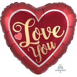 "SANGRIA & GOLD LOVE YOU JUMBO P32 PKT (28"" x 28"")"