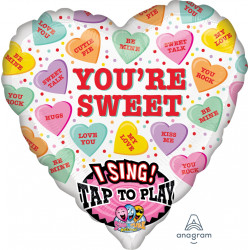 "SWEET CANDY HEARTS SING A TUNE P60 PKT (29"" x 29"")"
