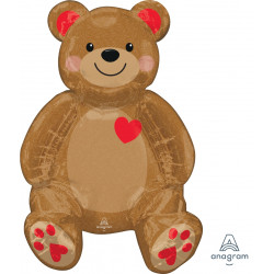 "BEAR LOVE SITTING MULTI BALLOON A70 PKT (17"" x 20"")"