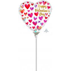 "PAINTERLY HEARTS HAPPY VALENTINE'S DAY 9"" A15 FLAT"