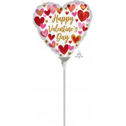 "PLAYFUL HEARTS VALENTINE'S 9"" A15 FLAT"