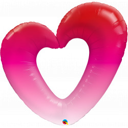 "PINK OMBRE HEART 42"" SHAPE GROUP C PKT YZP"