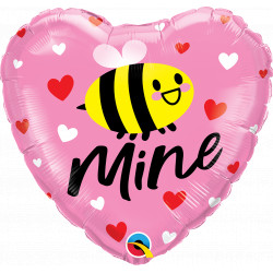 "BEE MINE HEARTS 18"" PKT IF"