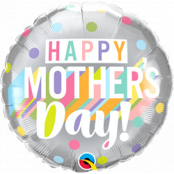 """BIG PASTEL DOTS MOTHER'S DAY 18"""" PKT IF"""