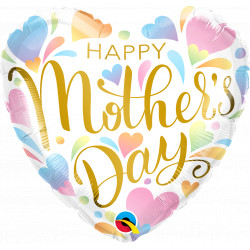 """PASTEL HEARTS MOTHER'S DAY 18"""" PKT IF"""