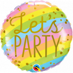 "LET'S PARTY STRIPES 18"" PKT IF"
