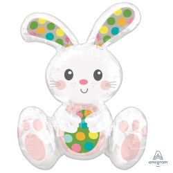 SITTING EASTER BUNNY MULTI BALLOON A75 PKT