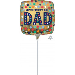 "DAD HAPPY FATHER'S DAY 9"" A15 FLAT"