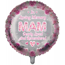 "MAM PINK REMEMBRANCE 18"" ROUND PKT"