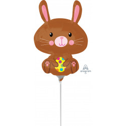 BUNNY WITH YELLOW EGG EASTER  MINI SHAPE A30 FLAT
