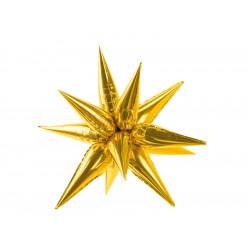 GOLD 3D STAR SHAPE 70cm PKT