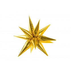 GOLD 3D STAR SHAPE 95cm PKT