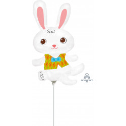 EASTER BUNNY WITH VEST MINI SHAPE A30 FLAT