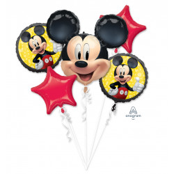 MICKEY MOUSE FOREVER 5 BALLOON BOUQUET P75 PKT