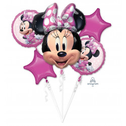 MINNIE MOUSE FOREVER 5 BALLOON BOUQUET P75 PKT