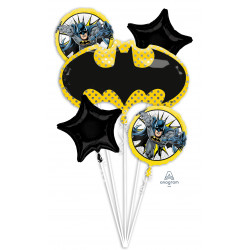 BATMAN  5 BALLOON BOUQUET P75 PKT