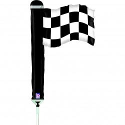 "CHECKERED FLAG 14"" MINI SHAPE FLAT"