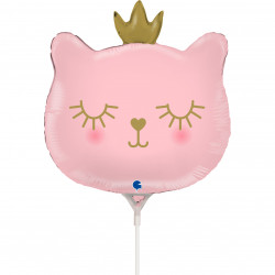 "CAT PRINCESS HEAD 14"" MINI SHAPE FLAT"