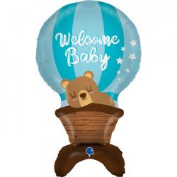 """BABY BOY AIR-FILLED STANDUPS 38"""" GRABO SHAPE D4 PKT"""
