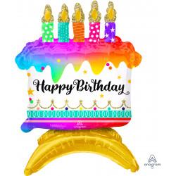 "BIRTHDAY CAKE AIRFILLED CENTER PIECE DECOR A75 PKT (14"" x 18"")"