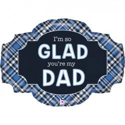 """BEST DAD EVER PLAID 32"""" GRABO SHAPE C PKT"""