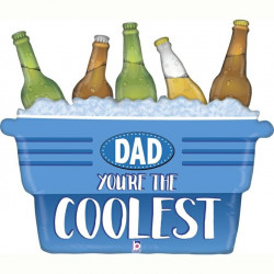 "COOLEST DAD COOLER 33"" GRABO SHAPE D PKT"