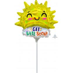 GET WELL HAPPY SUN MINI SHAPE A30 FLAT