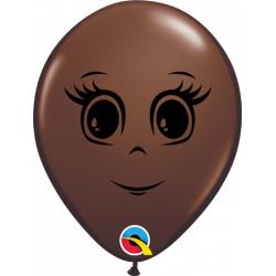 "FEMININE FACE 5"" CHOCOLATE BROWN (100CT) QN"