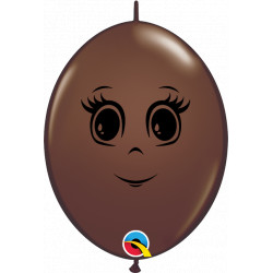 """FEMININE FACE QUICK LINK 6"""" CHOCOLATE BROWN (50CT) CY"""