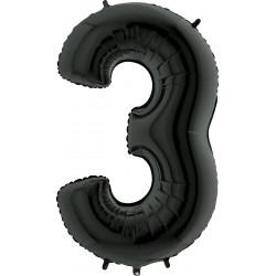 """BLACK NUMBER 3 SHAPE 40"""" PKT"""