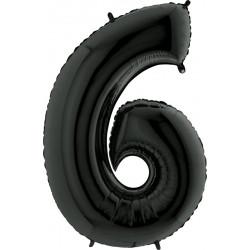 """BLACK NUMBER 6 SHAPE 40"""" PKT"""
