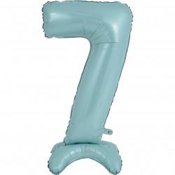 """PASTEL BLUE NUMBER 7 STANDUP SHAPE 25"""" PKT"""