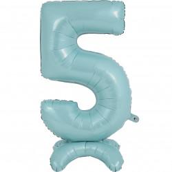 """PASTEL BLUE NUMBER 5 STANDUP SHAPE 25"""" PKT"""