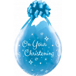 """ON YOUR CHRISTENING 18"""" DIAMOND CLEAR (25CT) YJH"""