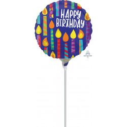 HAPPY CANDLES HAPPY BIRTHDAY MINI SHAPE A15 FLAT