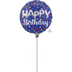 BALLOON LETTERS HAPPY BIRTHDAY MINI SHAPE A15 FLAT