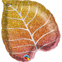 """FALL GLITTERGRAPHIC OMBRE LEAF 21"""" SHAPE GROUP B YTE"""