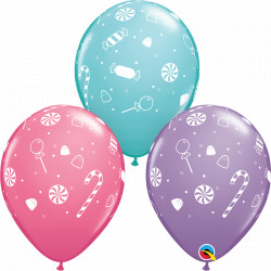 """CANDIES & CONFETTI 11"""" ASSORTED SPRING LILAC, CARIBBEAN BLUE & ROSE (25CT) YGX"""