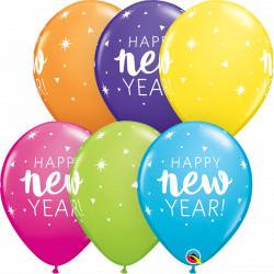 "NEW YEAR SPARKLE CONFETTI 11"" TROPICAL ASSORTMENT (25CT) YGX"