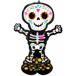 """DAY OF THE DEAD STANDING SKELETON P70 AIRLOONZ PKT (35"""" X 52"""")"""
