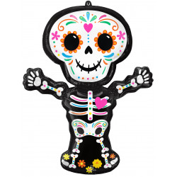 """DAY OF THE DEAD STANDING SKELETON SHAPE P35 PKT (26"""" x 34"""")"""