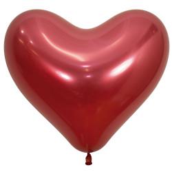 """RED CRYSTAL HEART 915 14"""" SEMPERTEX REFLEX (50CT)"""