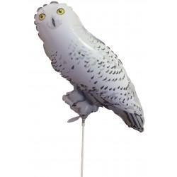 """WHITE SNOW OWL 14"""" MINI SHAPE FLAT"""